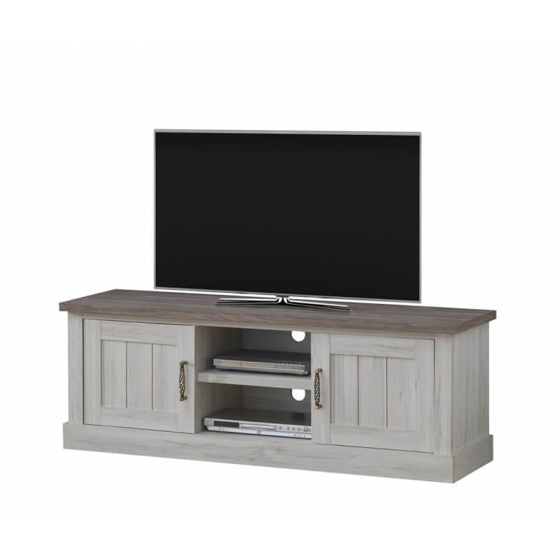 meuble tv contemporain ch ne clair brun milena matelpro. Black Bedroom Furniture Sets. Home Design Ideas