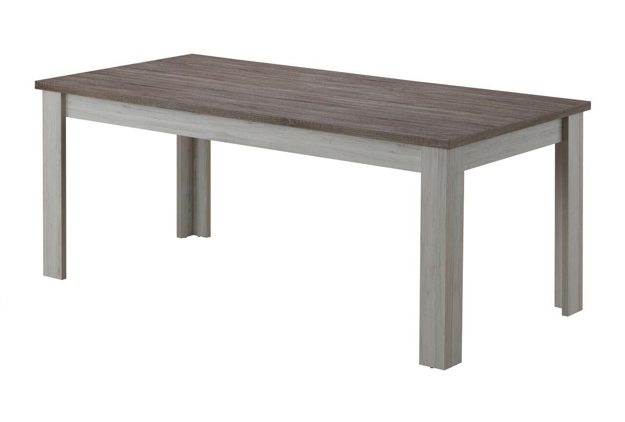 Table de salle à manger contemporaine chêne clair/brun Milena