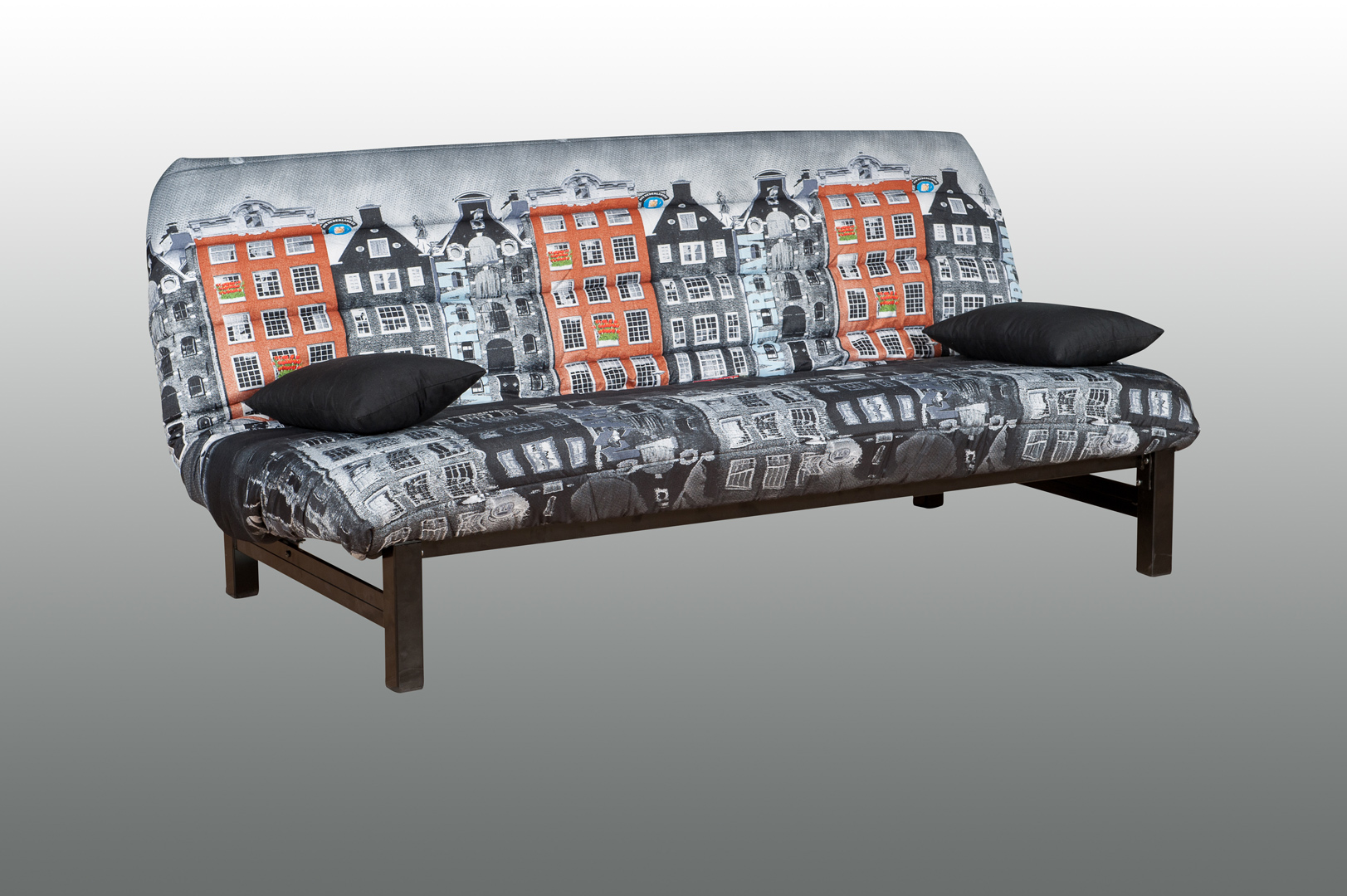 Clic-clac en tissu imprimé Amsterdam Courtney