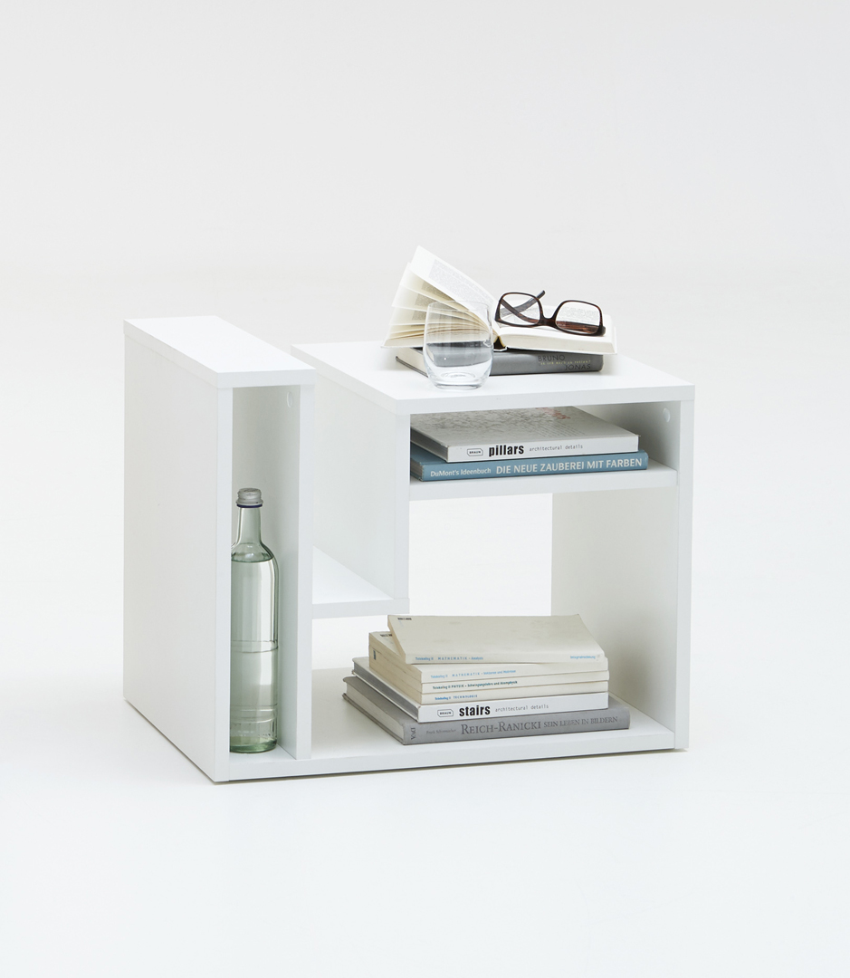 Table basse contemporaine coloris blanc Corey