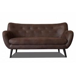 Canapé fixe 3 places design en tissu tobago brun Axelle