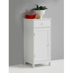 Meuble bas de salle de bain contemporain blanc Fidusine