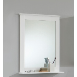 Miroir de salle de bain contemporain blanc Fidusine
