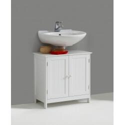 Meuble sous lavabo contemporain blanc Fidusine
