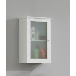Meuble haut de salle de bain contemporain blanc Fidusine