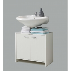 Meuble sous lavabo contemporain blanc Amarylis
