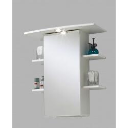 Armoire de toilette contemporaine blanche avec éclairage Amarylis