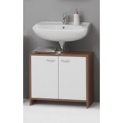 Meuble sous lavabo contemporain blanc/merano Rosalys
