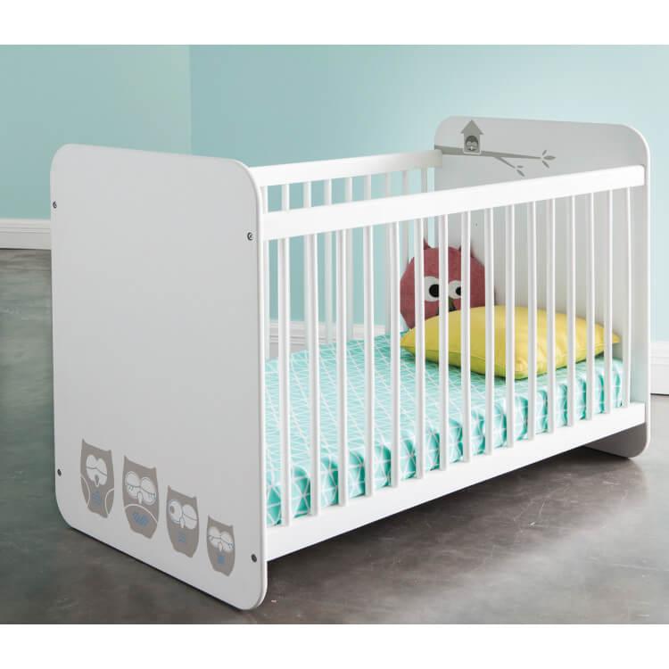 Lit bébé à barreaux contemporain blanc Chouet