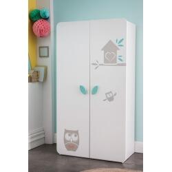 Armoire bébé contemporaine 2 portes blanche Chouet