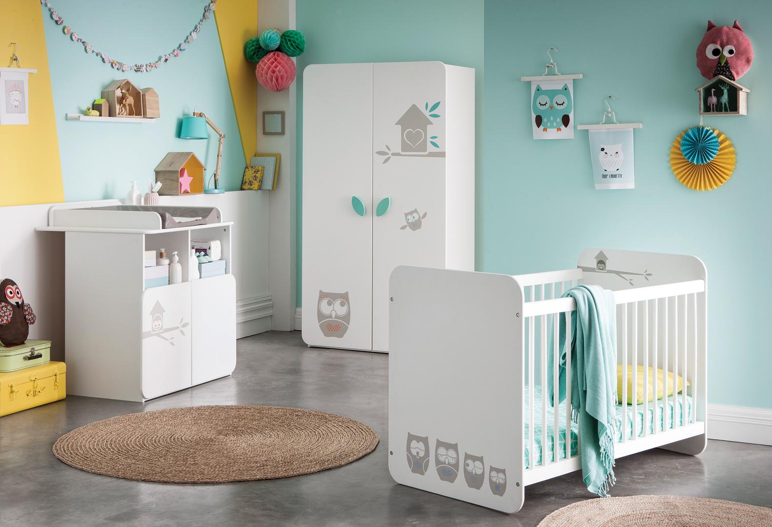 Chambre bébé contemporaine blanche Chouet