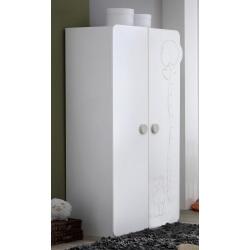 Armoire bébé contemporaine 2 portes blanche Olaf
