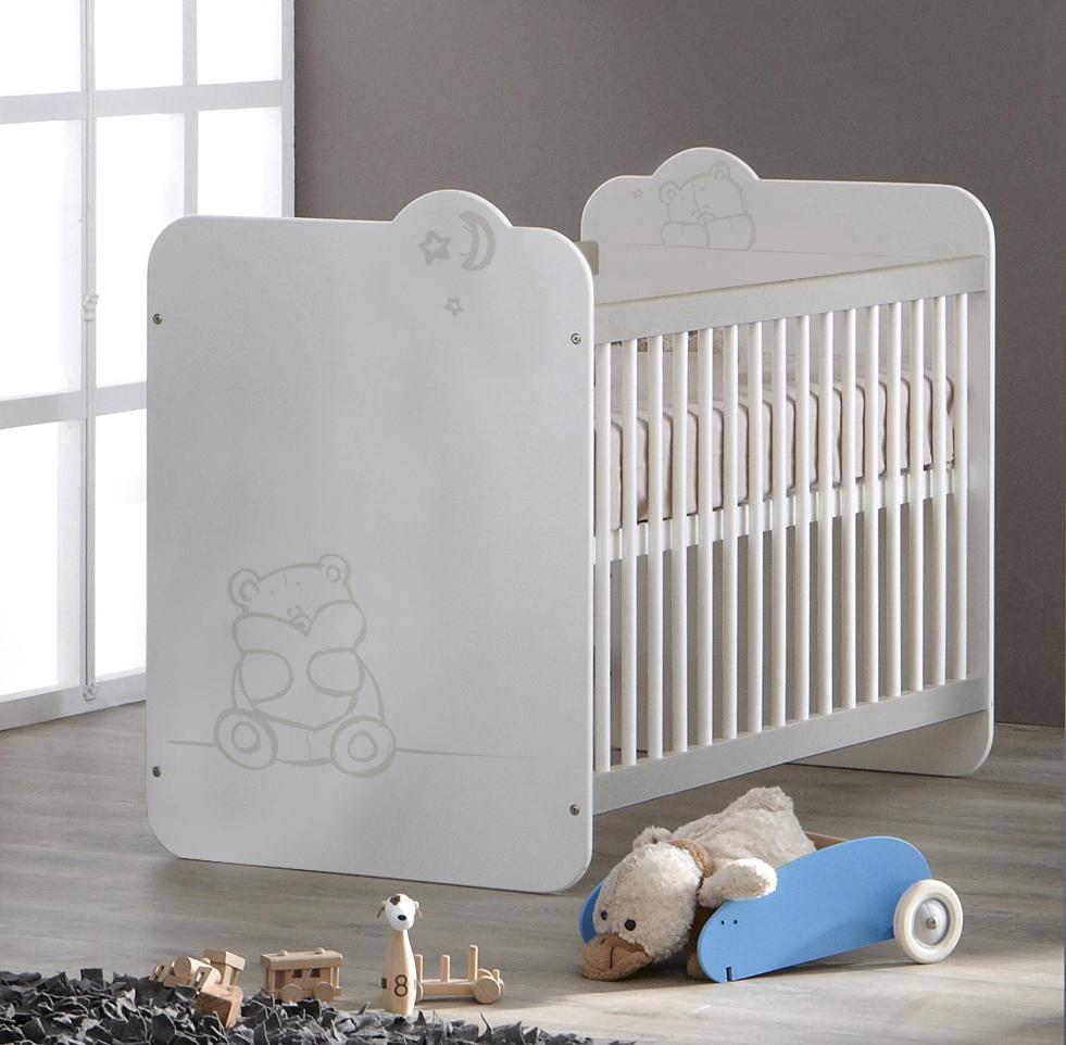 Lit bébé à barreaux contemporain blanc Olaf