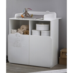 Commode à langer contemporaine blanche Olaf