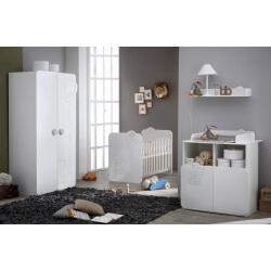 Chambre bébé contemporaine blanche Olaf