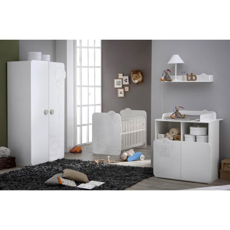 chambre b b contemporaine blanche olaf matelpro. Black Bedroom Furniture Sets. Home Design Ideas