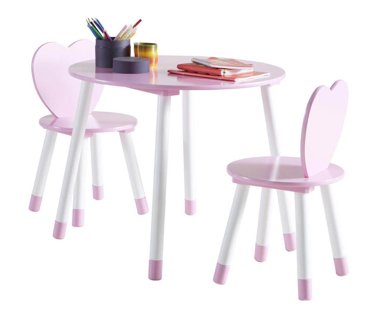 Enfant Ensemble Et Chaises Table Contemporain Blancrose Aurore A4R53jL