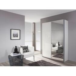 Armoire à chaussures design laquée blanche portes coulissantes Minos