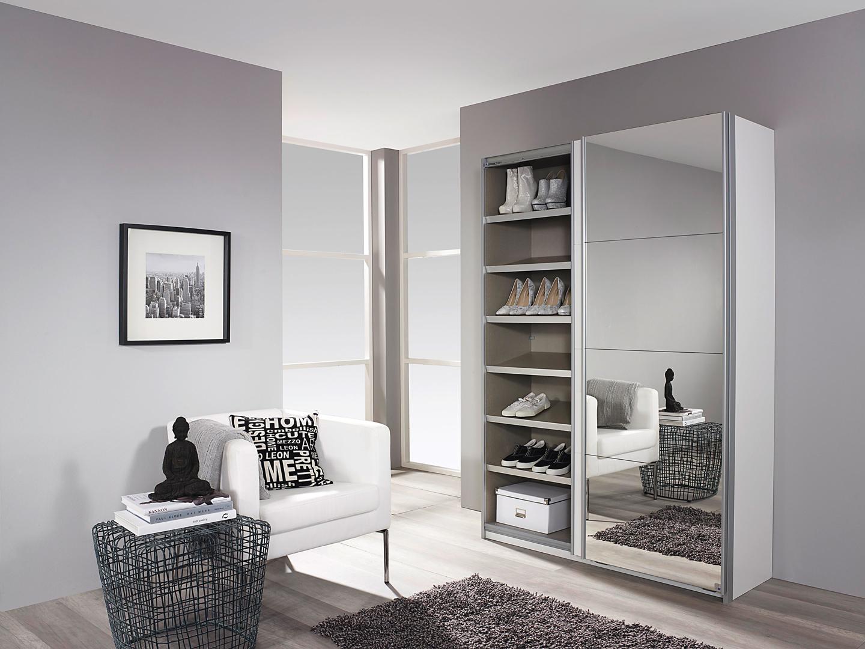 armoire chaussures design laqu e blanche portes. Black Bedroom Furniture Sets. Home Design Ideas