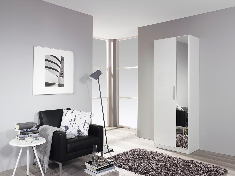 Armoire design 2 portes laquée blanche Minos