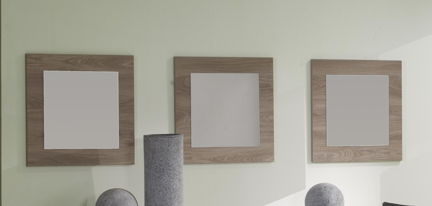 Miroir carré de salle à manger contemporain (lot de 3) coloris ...