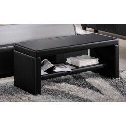 Bout de lit design en PU noir Moira