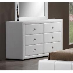 Commode design 4 tiroirs blanche Lutèce