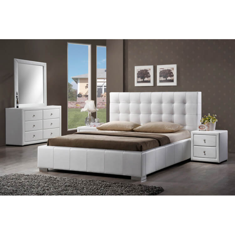 commode design 4 tiroirs blanche lut ce matelpro. Black Bedroom Furniture Sets. Home Design Ideas