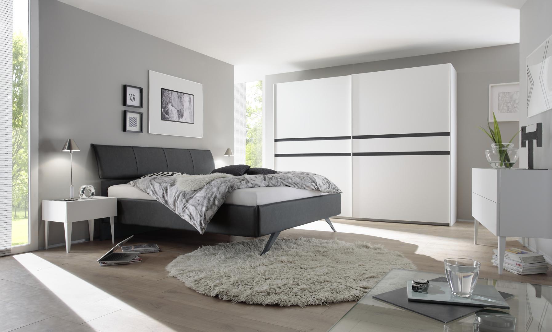 Chambre Gris Anthracite Et Blanc chambre adulte design blanc mat/gris foncé bizance ii