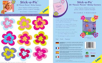 Stickers de coin FLOWER POWER
