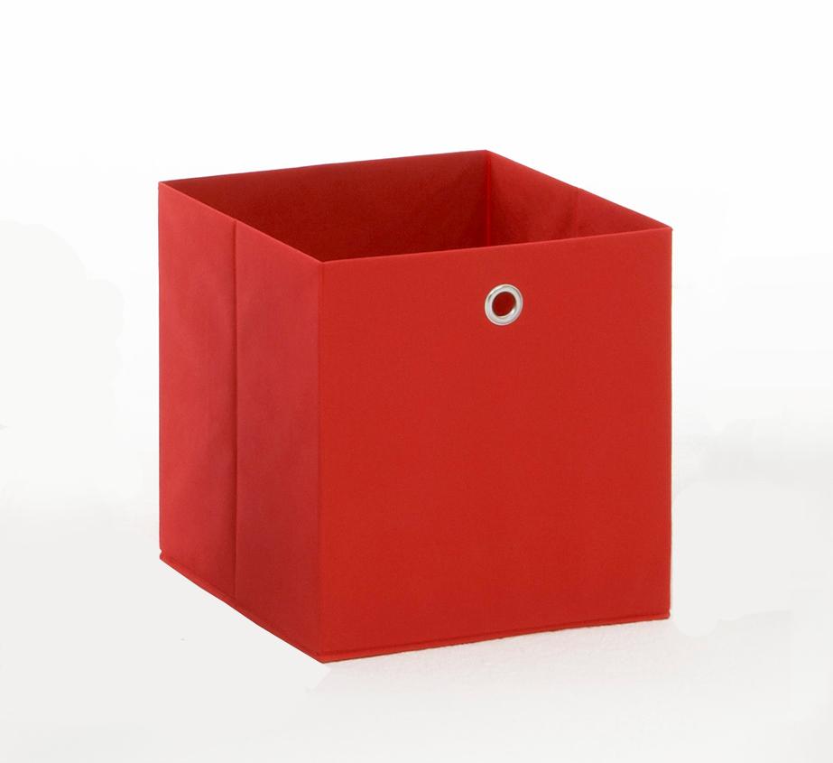 Panier de rangement en tissu rouge Gama II