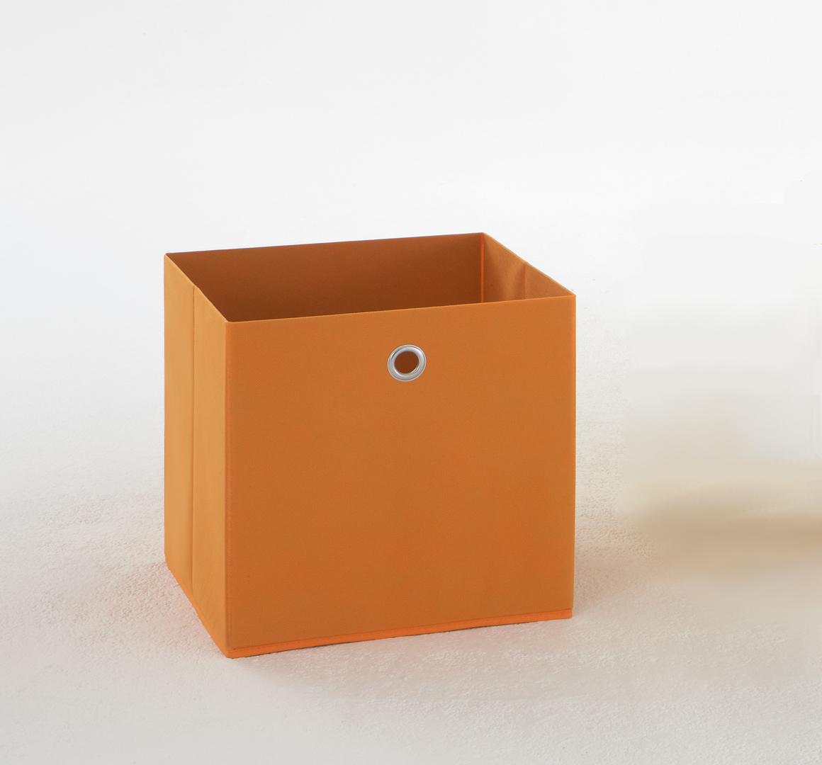 Panier de rangement en tissu orange Gama II