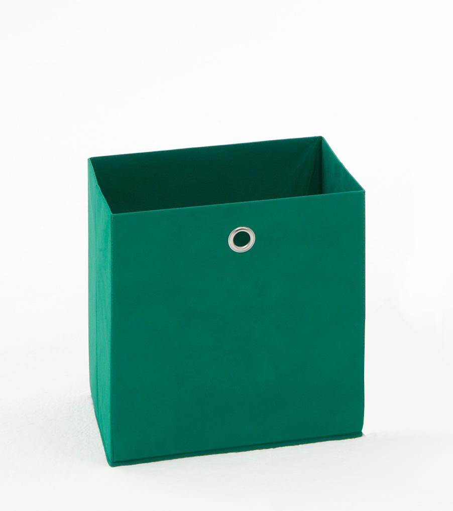 Panier de rangement en tissu vert Gama II