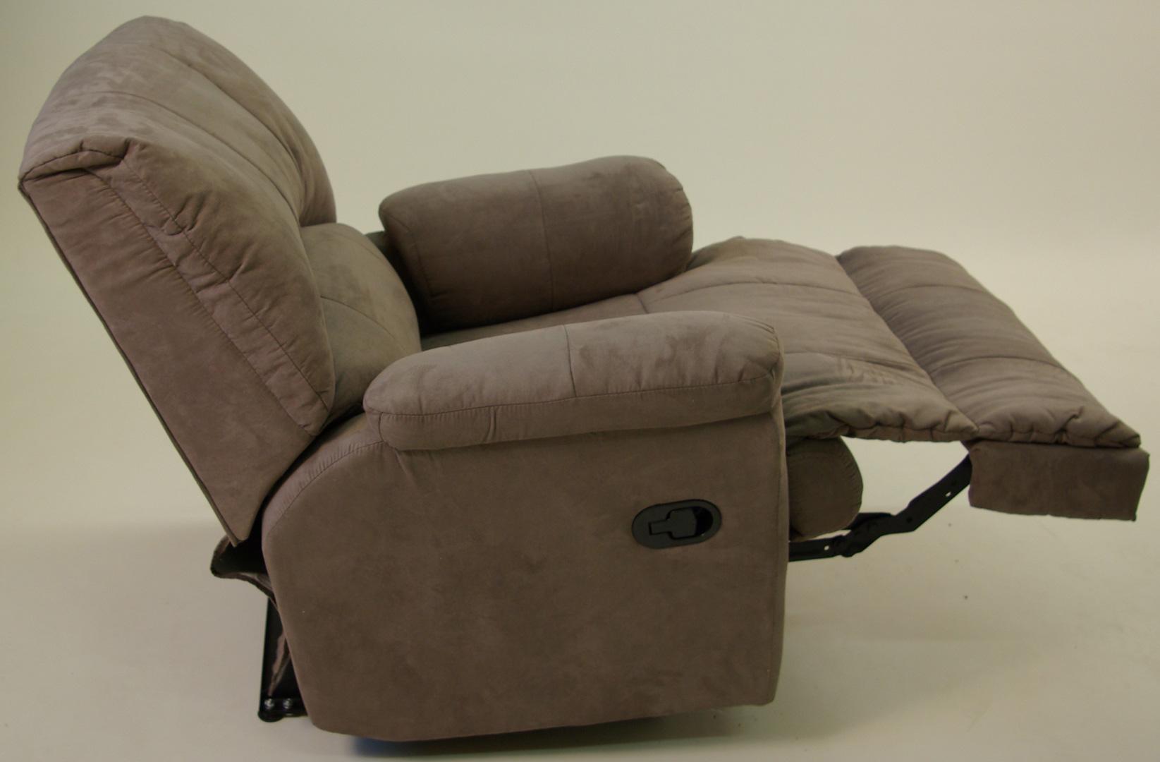 Fauteuil de relaxation semi-automatique microfibre avec repose-pieds intégré TOULOUSE