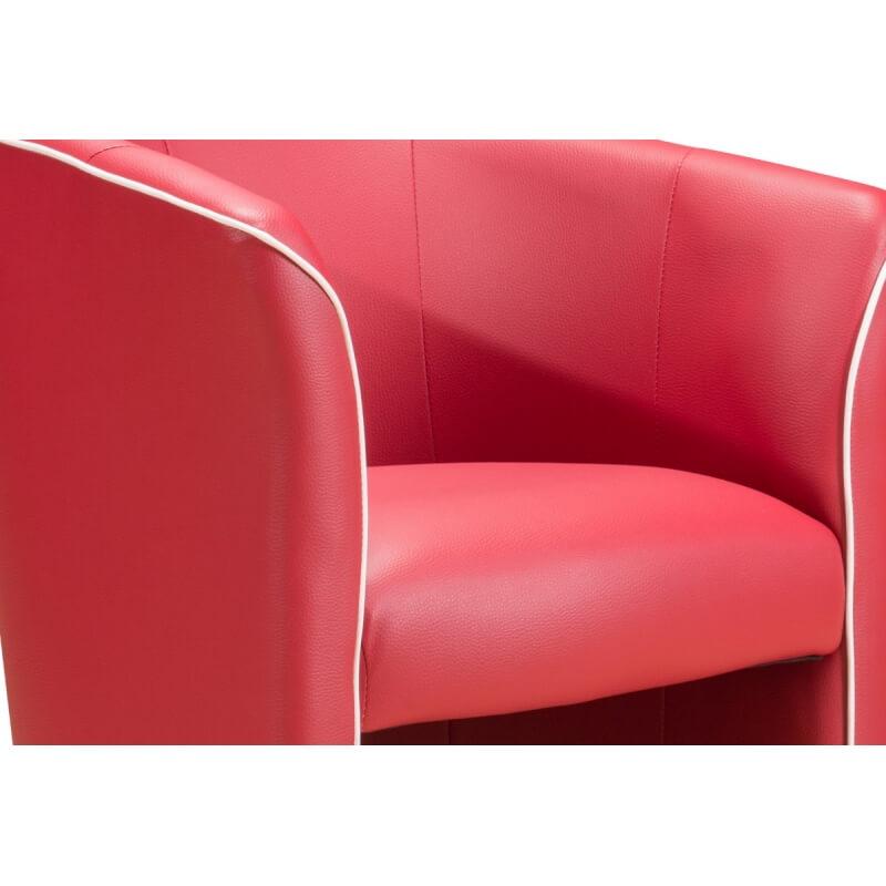 fauteuil cabriolet moderne en pu rouge cyrille matelpro. Black Bedroom Furniture Sets. Home Design Ideas