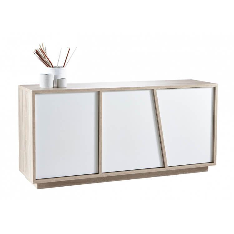 Buffet/bahut scandinave 3 portes chêne/blanc Estonie