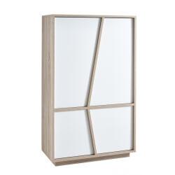 Vaisselier/argentier contemporain 4 portes chêne/blanc Estonie