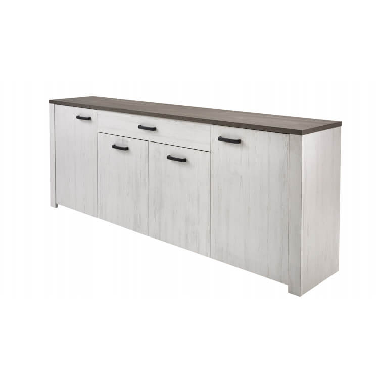 Buffet/bahut contemporain blanc/marron Rubio
