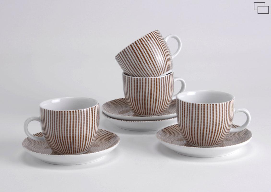 Coffret 4 tasses avec sous tasses