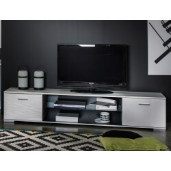 Meuble TV design coloris blanc brillant Joyce
