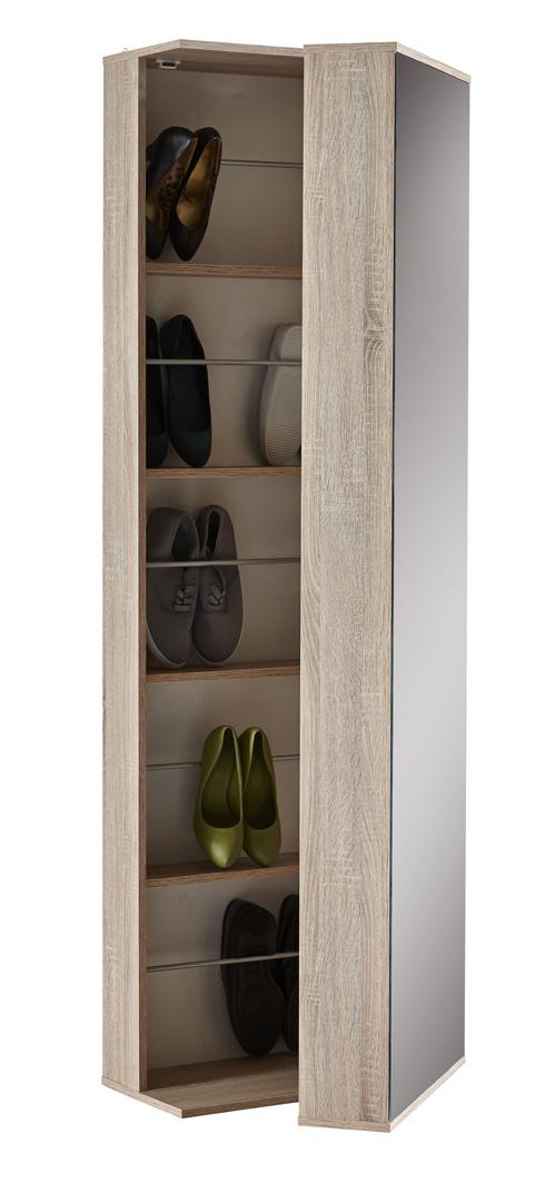 Armoire à chaussures contemporaine chêne clair Ysalia