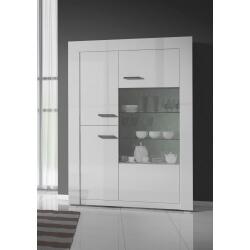 Vaisselier/argentier design 3 portes laqué blanc Gwendaline