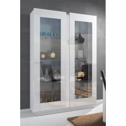Vaisselier/argentier design 2 portes laqué blanc Corentine