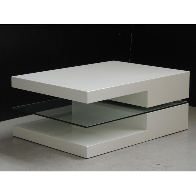 Table Basse Design Blanche Pivotante Spineda