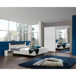 Chambre adulte design blanche/anthracite Evonie