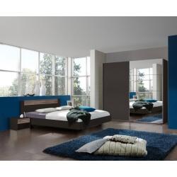 Chambre adulte contemporaine coloris chêne/lave Australia