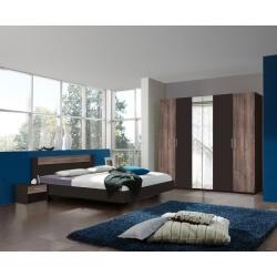 Chambre adulte contemporaine coloris chêne/lave Australia III