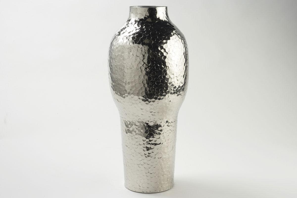 Vase en métal MARTELE