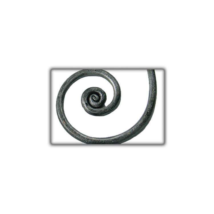 Chevet fer forgé COMTESSE gris anthracite