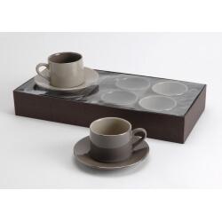 Coffret 4 tasses à café MARGAUX